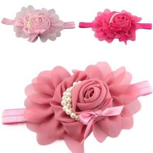 🆕Set of 3 Shades pink floral headbands